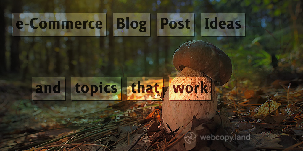 e-Commerce Blog Ideas and Topics That WORK